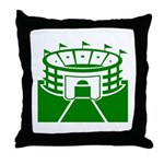 Green Stadium Throw Pillow