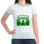 Green Stadium Jr. Ringer T-Shirt