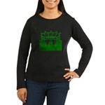 Green Stadium Women's Long Sleeve Dark T-Shirt