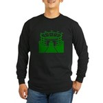 Green Stadium Long Sleeve Dark T-Shirt