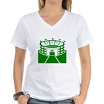 Green Stadium Women's V-Neck T-Shirt