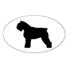 Bouvier des Flandres Dog Oval Decal