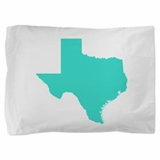 Turquoise Texas Outline Pillow Sham