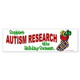Autism Christmas Stocking 1 Bumper Car Sticker