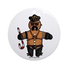 leather daddy gingerbread Ornament (Round)