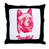Kishu Ken Throw Pillow
