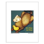 Ferret & Rubber Ducky Small Poster