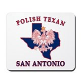 San Antonio Polish Texan Mousepad