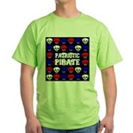 Patriotic Pirates Green T-Shirt