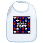 Patriotic Pirates Bib