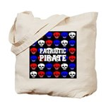 Patriotic Pirates Tote Bag