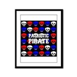 Patriotic Pirates Framed Panel Print