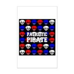 Patriotic Pirates Mini Poster Print