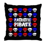 Patriotic Pirates Throw Pillow