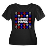 Patriotic Pirates Women's Plus Size Scoop Neck Dar