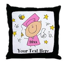 Cute Girl Graduate Throw Pillow