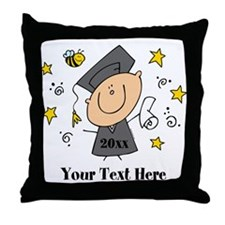 Cute Boy Graduate Throw Pillow