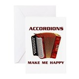 ACCORDIAN Greeting Cards (Pk of 20)