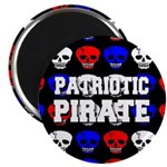 Patriotic Pirates Magnet
