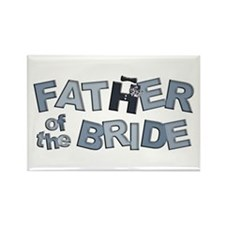 BP Letters Father of Bride Rectangle Magnet