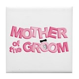 BP Letters Mother of Groom Tile Coaster