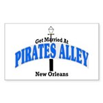 Pirates alley wedding Rectangle Sticker