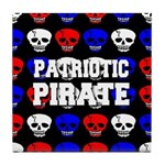 Patriotic Pirates Tile Coaster