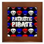 Patriotic Pirates Framed Tile