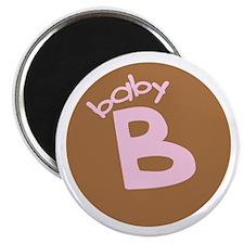 "baby B brown/pink 2.25"" Magnet (10 pack)"