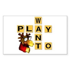 Want To Play Moose Rectangle Decal