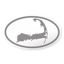 Cape Cod Euro Oval Sticker with Map