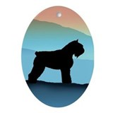 Blue Mountains Bouvier Dog Oval Ornament