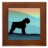 Blue Mountains Bouvier Dog Framed Tile