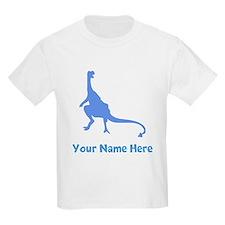 Dinosaur Silhouette (Blue) T-Shirt