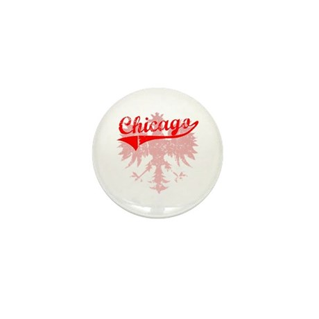 Chicago Polish w/Eagle Mini Button (100 pack)