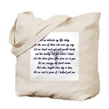 Physical Therapist's Prayer Tote Bag