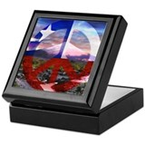 Chilean Flag Peace Sign Keepsake Box