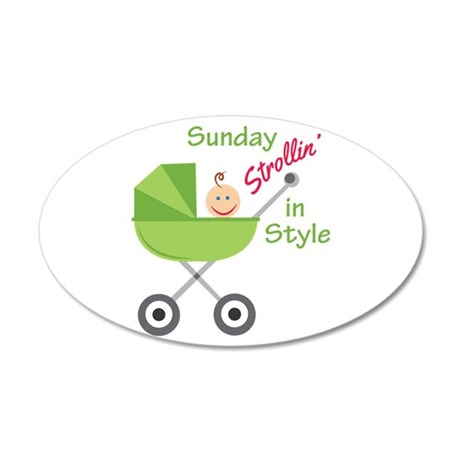 Strollin In Style Wall Decal