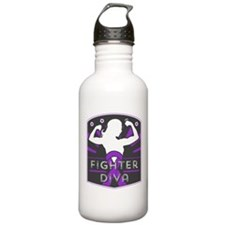 Pancreatic Cancer Fighter Diva Water Bottle
