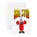 BBQ Stud Greeting Cards (Pk of 10)
