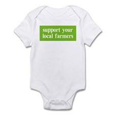 Support your local farmers Infant Bodysuit