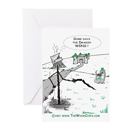 Some Days the Dragon Wins Greeting Cards (Pk of 20