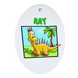 Ray Dinosaur Oval Ornament