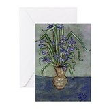 Irises In A Vase Greeting Cards (Pk of 10)