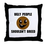 UGLY PEOPLE Throw Pillow