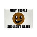 UGLY PEOPLE Rectangle Magnet (100 pack)