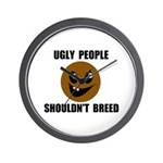 UGLY PEOPLE Wall Clock