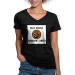 UGLY PEOPLE Women's V-Neck Dark T-Shirt