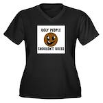 UGLY PEOPLE Women's Plus Size V-Neck Dark T-Shirt