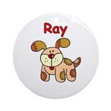 Ray Puppy Ornament (Round)
